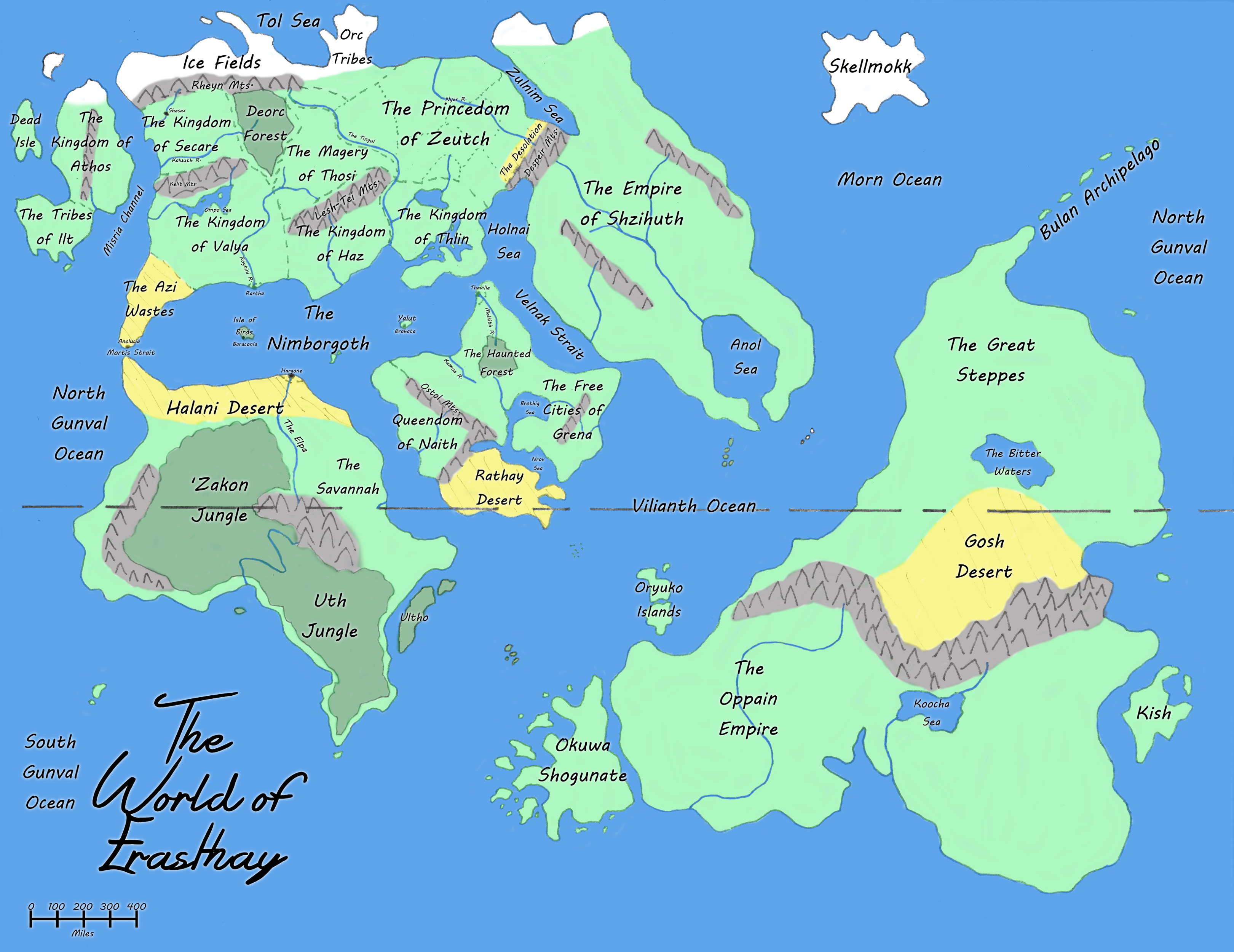 The World of Erasthay Map